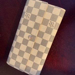 Louis Vuitton trifold clutch checkered